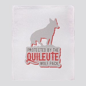 Protected by Quileute Wolfpac Throw Blanket