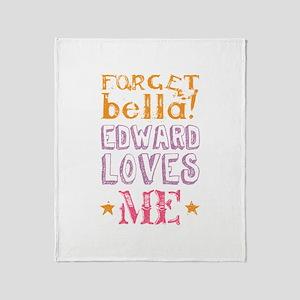Edward Loves Me Throw Blanket