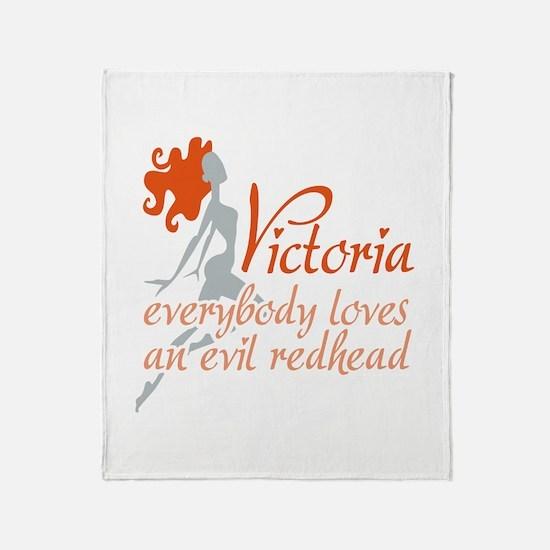 Evil Redhead Victoria Throw Blanket