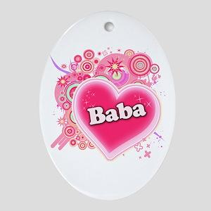 Baba Heart Art Ornament (Oval)