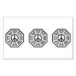 Dharma Peace Faded Sticker (Rectangle 50 pk)