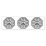 Dharma Peace Faded Sticker (Bumper 10 pk)