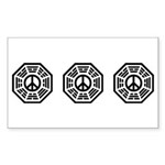Dharma Peace Faded Sticker (Rectangle)