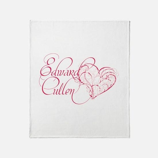 Edward Cullen Heart Throw Blanket