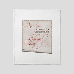 All I Want Edward Christmas Throw Blanket