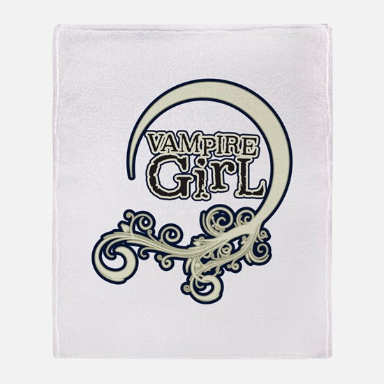 Eclipse Vampire Girl Throw Blanket