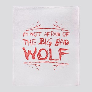 Big Bad Wolf Throw Blanket
