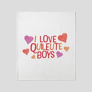 I Love Quileute Boys Throw Blanket