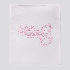 Pink Sparkly TwiHard Throw Blanket