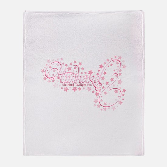 Pink Sparkly TwiHard Throw Blanket