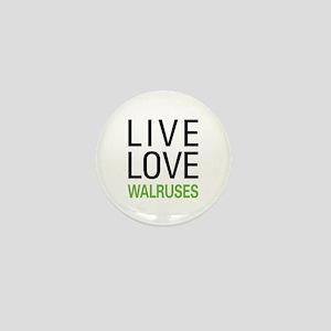 Live Love Walruses Mini Button