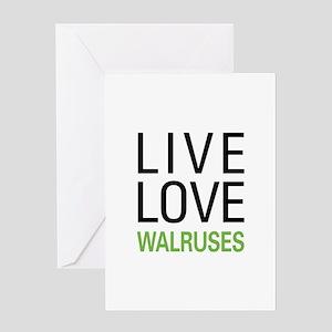 Live Love Walruses Greeting Card