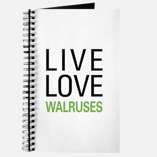 Live Love Walruses Journal