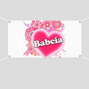 Babcia Heart Art Banner