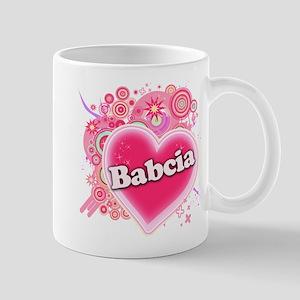 Babcia Heart Art Mug