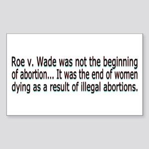 Roe v Wade Sticker (Rectangle)