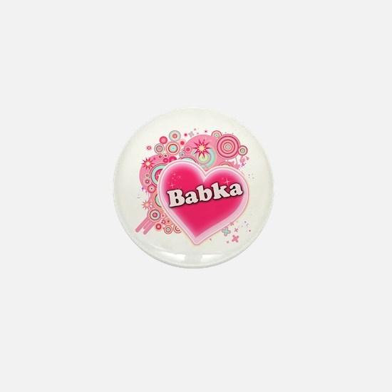 Babka Heart Art Mini Button