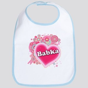 Babka Heart Art Bib