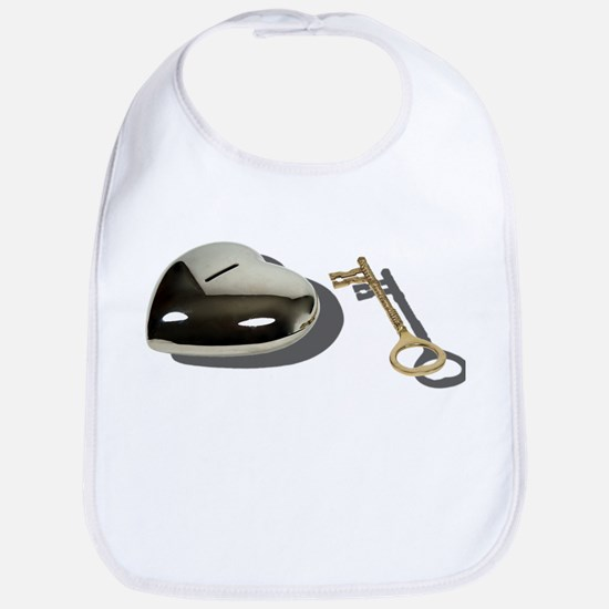 Key Silver Heart Bib