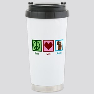 Peace Love Beavers Stainless Steel Travel Mug
