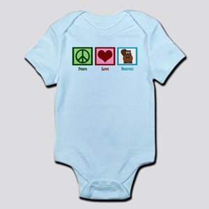 Peace Love Beavers Infant Bodysuit
