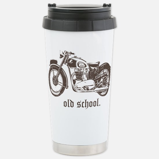 OLD SCHOOL TRIUMPH 500 Stainless Steel Travel Mug