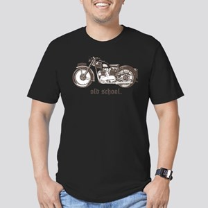 OLD SCHOOL TRIUMPH 500 Men's Fitted T-Shirt (dark)