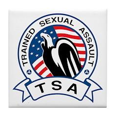 TSA Trained Sexual Assault Tile Coaster