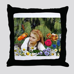 In The Garden Of Live Flowers Throw Pillow