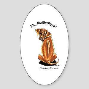 Rhodesian Ridgeback Manipulate Sticker (Oval)