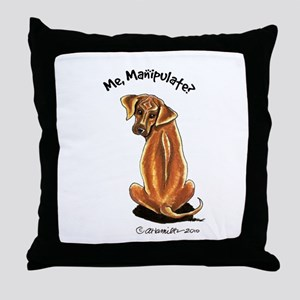 Rhodesian Ridgeback Manipulate Throw Pillow