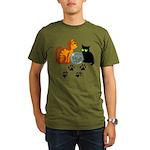 Fish Bowl Kitty Organic Men's T-Shirt (dark)