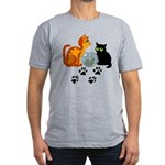 Fish Bowl Kitty Men's Fitted T-Shirt (dark)
