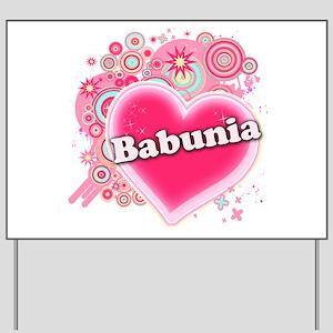 Babunia Heart Art Yard Sign