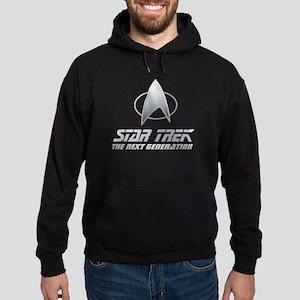 Star Trek TNG Text silver 2 Hoodie (dark)