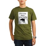 Tsuki Says 2 Organic Men's T-Shirt (dark)