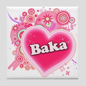 Baka Heart Art Tile Coaster