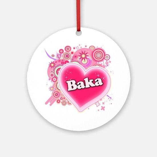 Baka Heart Art Ornament (Round)