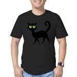 Cat With Green Eyes Men's Fitted T-Shirt (dark)