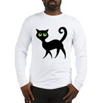 Cat With Green Eyes Long Sleeve T-Shirt
