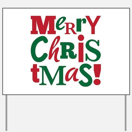 """Merry Christmas"" Yard Sign"