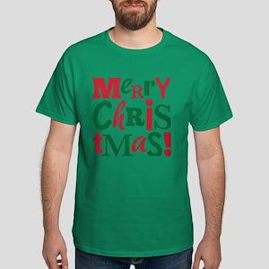 """""""Merry Christmas"""" Dark T-Shirt"""