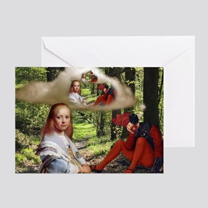 The Red King Sleeping Greeting Card