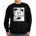 I Love Rescue Mutts Sweatshirt (dark)