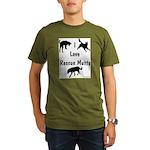 I Love Rescue Mutts Organic Men's T-Shirt (dark)