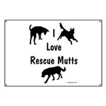 I Love Rescue Mutts Banner