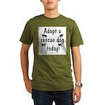 Adopt a Rescue Dog Today Organic Men's T-Shirt (da
