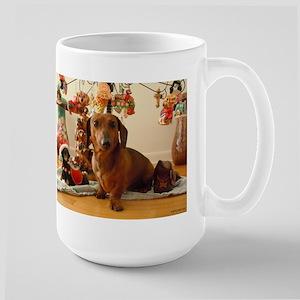 Christmas Dachshund (Ver.1) Large Mug