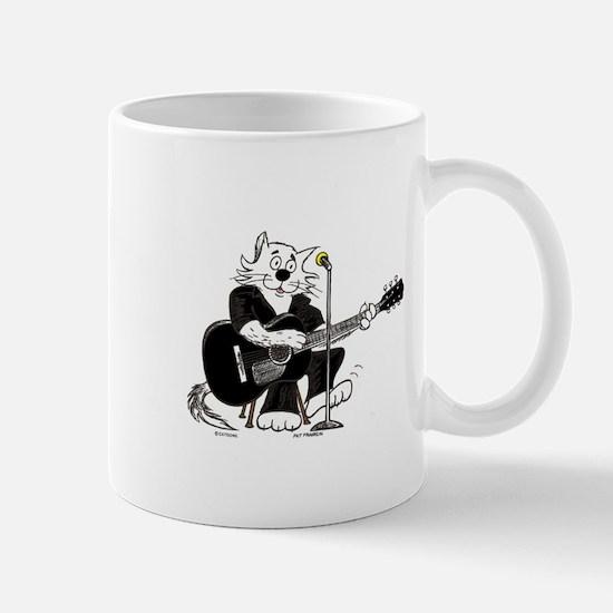 Accoustic Guitar Cat Mug