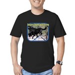 Success Begins With Trying Men's Fitted T-Shirt (d